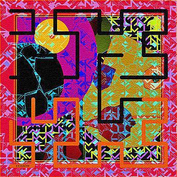 Dee Flouton - Red Multi Maze