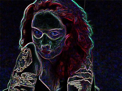 Rebecca Frank - Red Neon