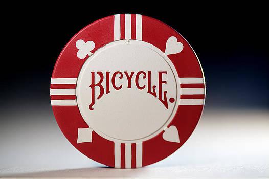 Red Poker Chip by Jonathan Bartlett