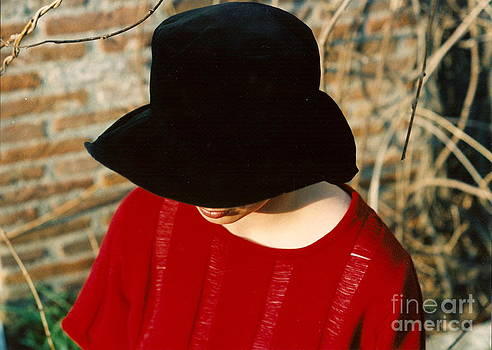 Red Pullover by Roswitha Schmuecker