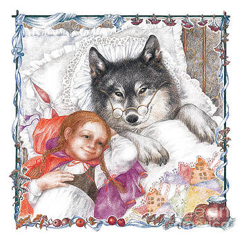 Red Riding Hood and Wolf by Sonya OLee