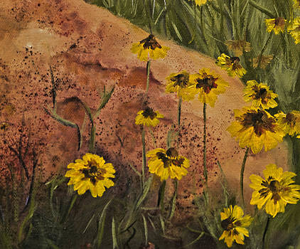 Diana Cox - Red Rock and Wildflowers