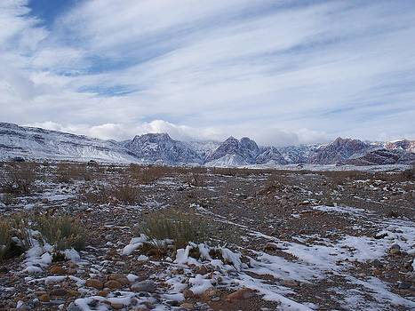 Red Rock Canyon Snow Covered by Jonathan Barnes