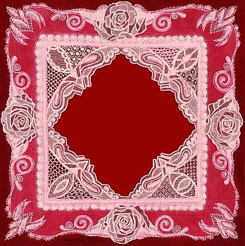 Red Roses Lace Matting by Jenny Elaine