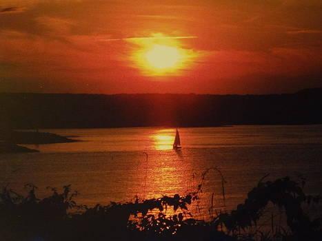 Nancy Fillip - Red Sails at Sunset