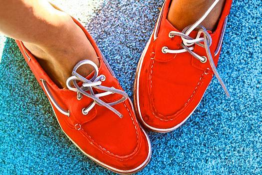 Red Shoes White Laces by Matthew Keoki Miller