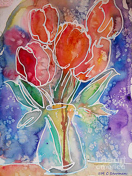 Red tulips by M c Sturman