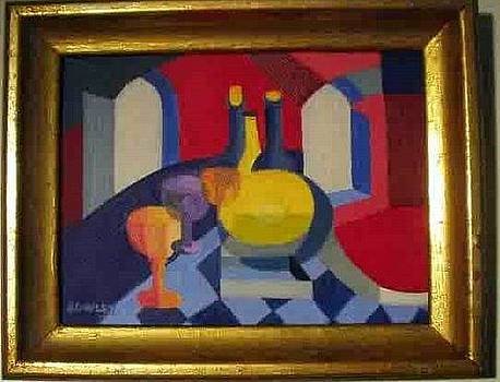 Red Vase by John Sowley
