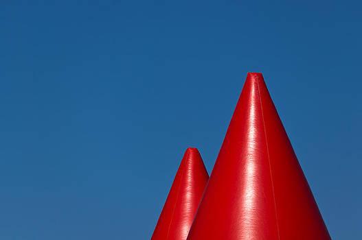 Red wigwams by Daniel Kulinski