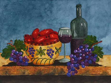 Red Wine and Blue by Kimberlee Weisker