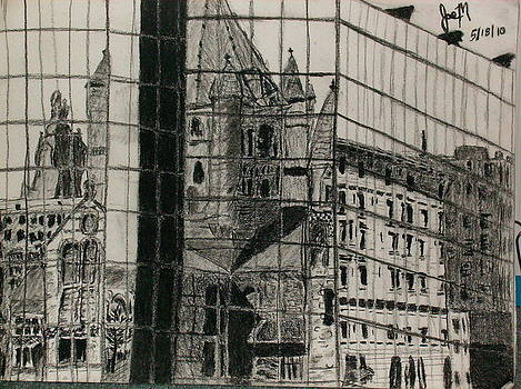 Reflection Of A Church by Jamie Mah
