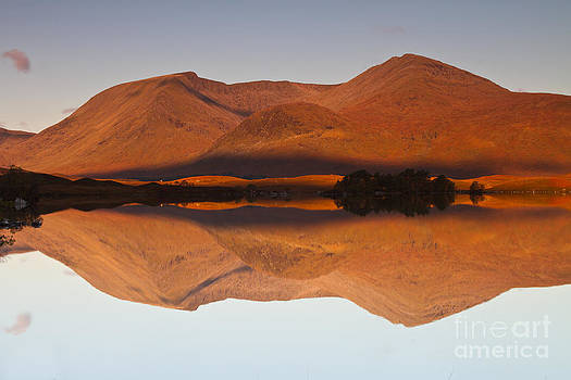Reflections at Lochan na h-Achlaise Scotland by Gabor Pozsgai