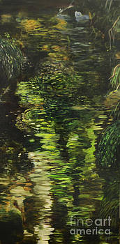Reflections on a Mountain Brook by Marlene Petersen