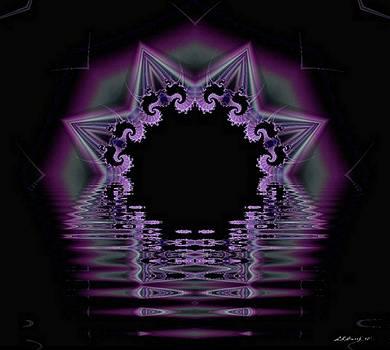 Reflective Purple Star by Lynda K Cole-Smith