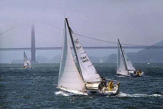 Regatta in San Francisco Bay by Phil Degginger