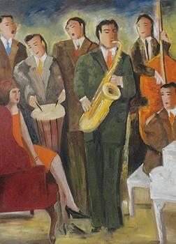 Sold/Rehearsing by Farid  Fakhriddin 80x60 cm