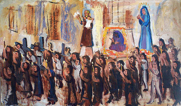 Religious Street Procession by Aileen Markowski