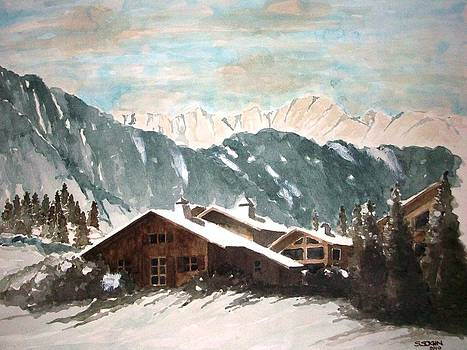 Rest house at the Alps by Samir Sokhn