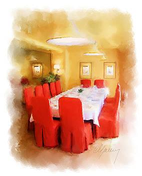 Restaurant Interior Menu Cover  by Michael Greenaway