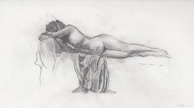 Resting Nude by Pamela  Corwin
