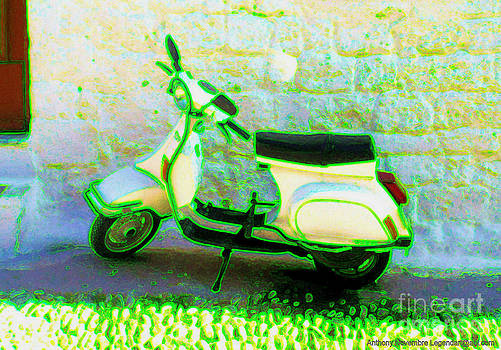 Retro Electric Green Scooter by Anthony Novembre