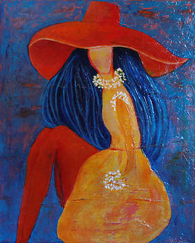 Retro Girl in the Yellow Dress  by LizTa Gallery