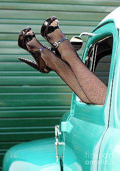 Retro Pinup Legs by Val Armstrong