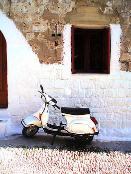 Retro White Scooter by Anthony Novembre