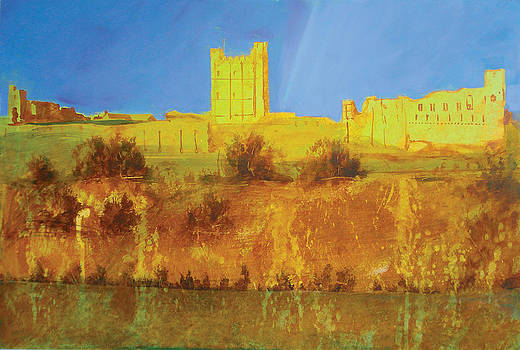 Neil McBride - Richmond Castle in gold