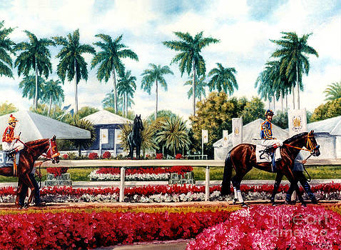 Riders up at Gulfstream by Thomas Allen Pauly