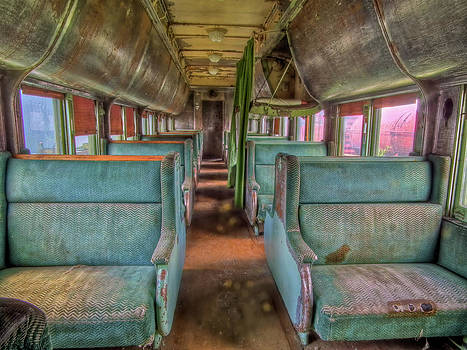 Riding in Coach by Colette Panaioti
