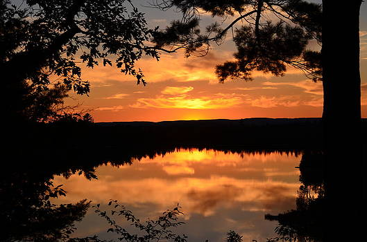Rifle Rive State Park Sunset by Jennifer  King