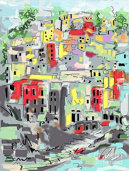 Ginette Callaway - Riomaggiore Italy Moucasso Painting