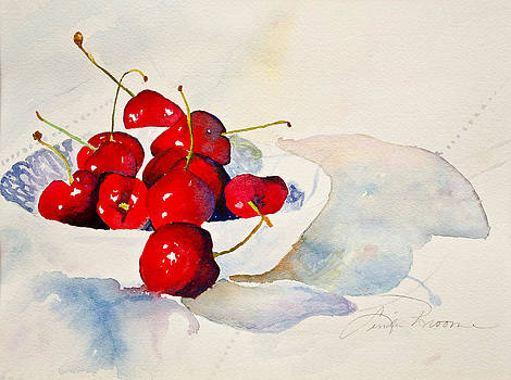 Ripe Red Cherries by Linda Broome