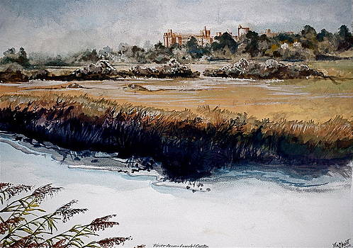 River Arun and Arundel Castle by HGW Schmidt