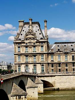 River bank of the Seine  by Carrie Putz