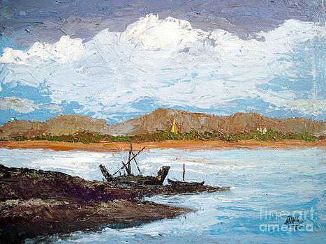 River of Ayeyarwaddy by Aung Min Min
