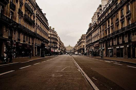 Road in Paris by Marcel Krasner