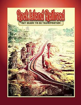 Rock Island Railroad Poster by Brian D Meredith