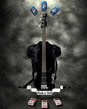 Rock N Roll crest-The bassist by Frederico Borges