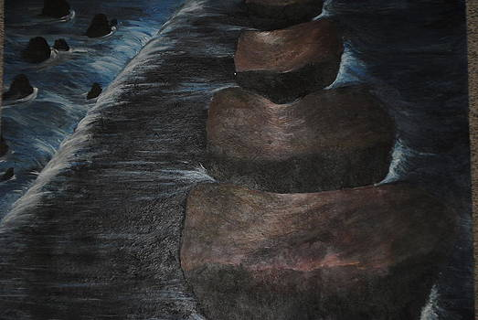 Rock Waterfall by Lauren Brown