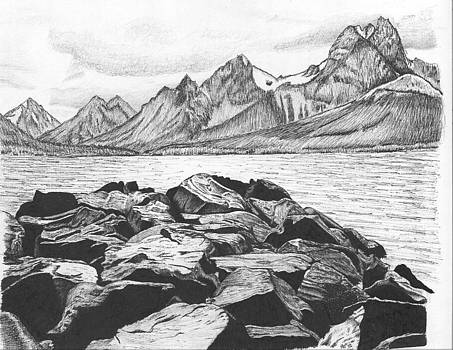 Rocky coastal landscape by Reppard Powers