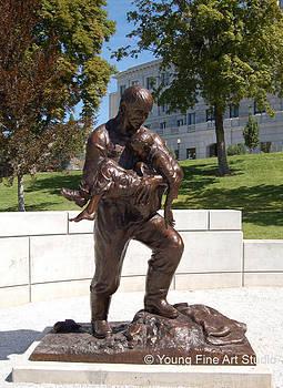 Rodney Badger Bronze Memorial Statue by Lena Toritch