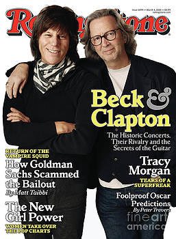 Rolling Stone Cover - Volume #1099 - 3/4/2010 - Jeff Beck and Eric Clapton by Jones Sam