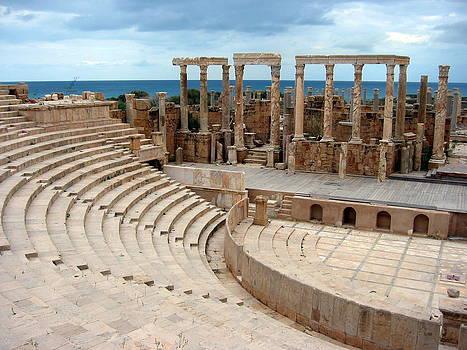 Roman Theatre, Leptis Magna, Libya by Joe & Clair Carnegie / Libyan Soup