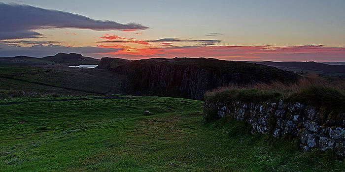 David Pringle - Roman Wall Sunrise