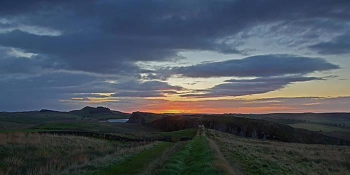 David Pringle - Roman Wall Sunrise II