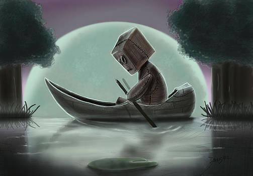 Romantic Boat Ride for One by Joseph  Davis
