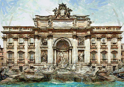 Rome Fountain Trevi by Amarok A