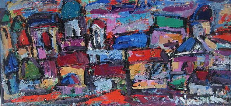 Roofs Of Trastevere by Len Yurovsky